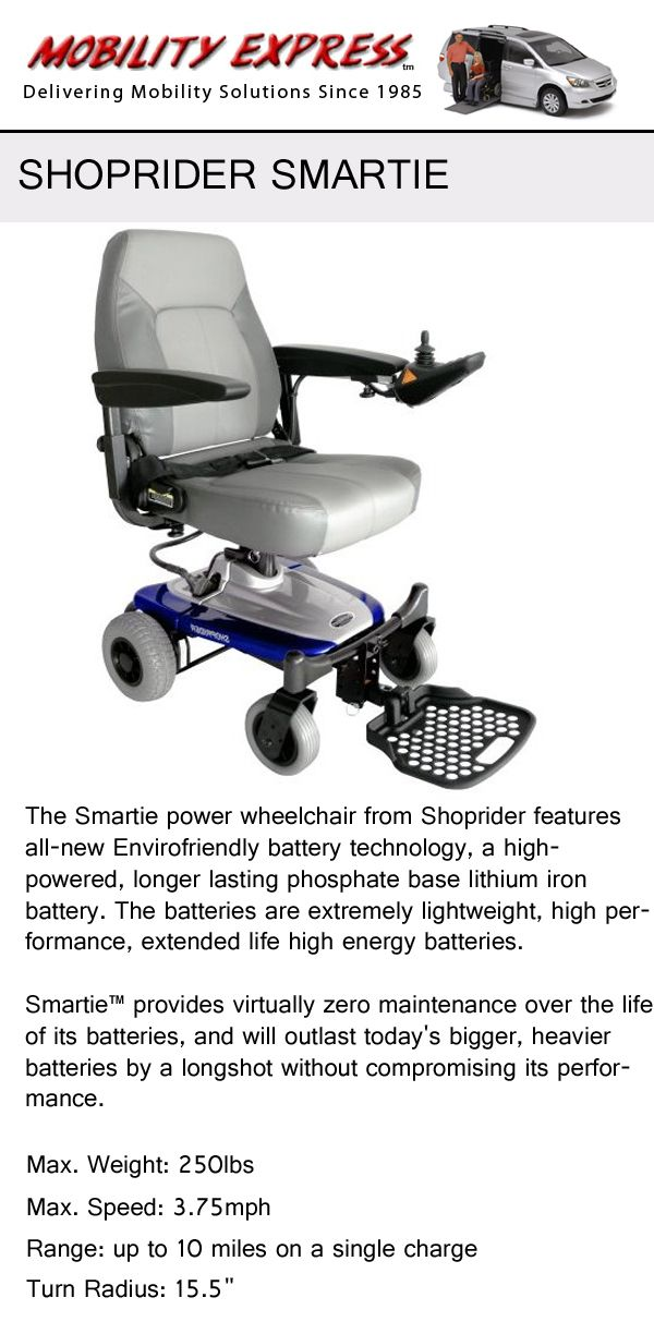 Shoprider Smartie Environmentally friendly green chair option for – Batteries for Power Chairs