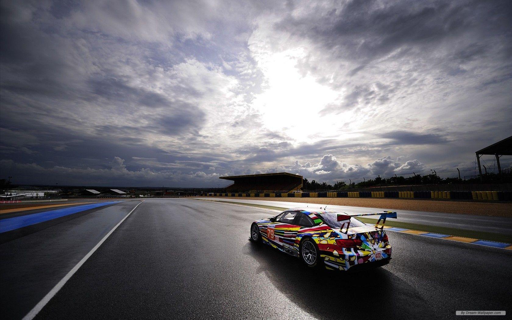 Bmw Art Car At 24 Hour Le Mans Wallpaper Bmw Art Car Art Background Racing