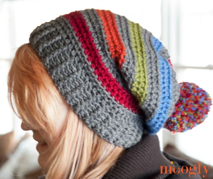 Free #Crochet Pattern: A Very Good Hat on Moogly! | Modelado, Gorros ...
