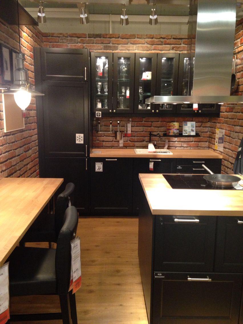 New York style kitchen @ Ikea Heerlen  Deco cuisine moderne