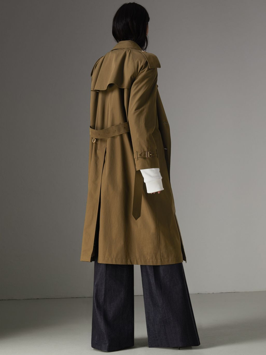 d2a48f3df49 The Long Westminster Heritage Trench Coat in Dark Military Khaki - Women