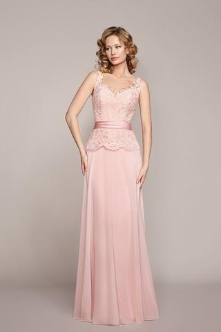 56fa1ca326 Vestido d madrina largo con mangas color azul 1170096 de Sonia peña ...