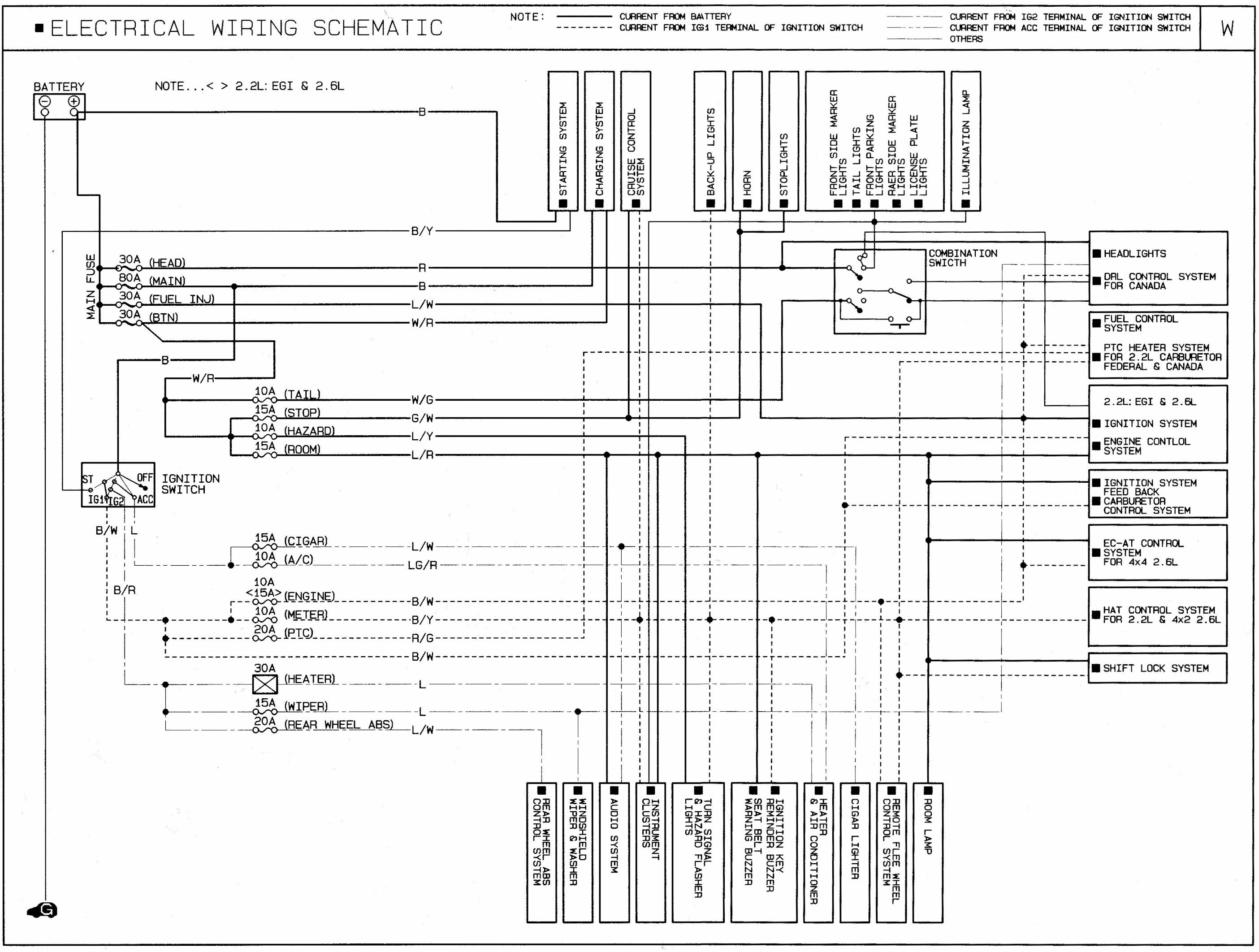Mazda B I Wiring Schematic Diagram