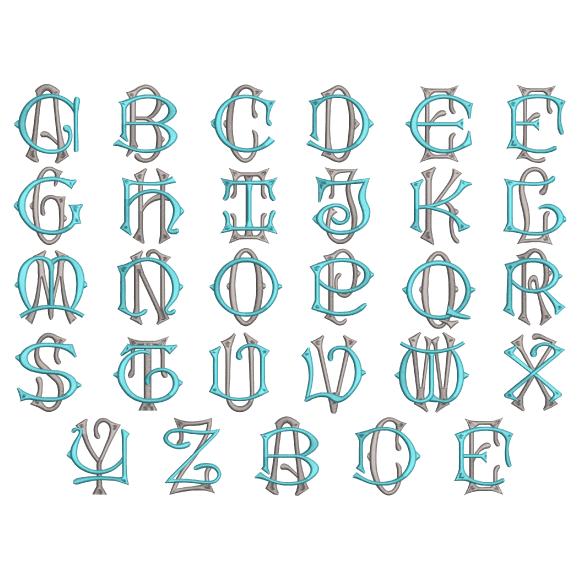 2 Letter Interlocked Monogram Hatch Font Hatch Beginners