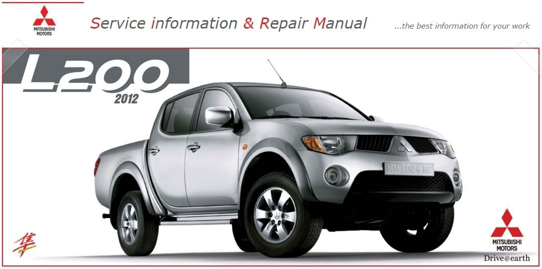 Mitsubishi L200 Factory Service Manual Pdf Mitsubishi Repair Manuals Toyota Hilux
