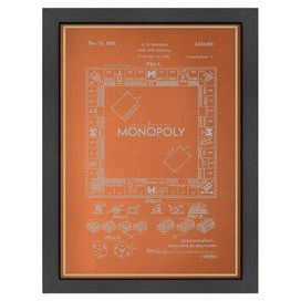 Man cave decor monopoly board game blueprint product monopoly board game blueprint product printconstruction material matte papercolor malvernweather Choice Image