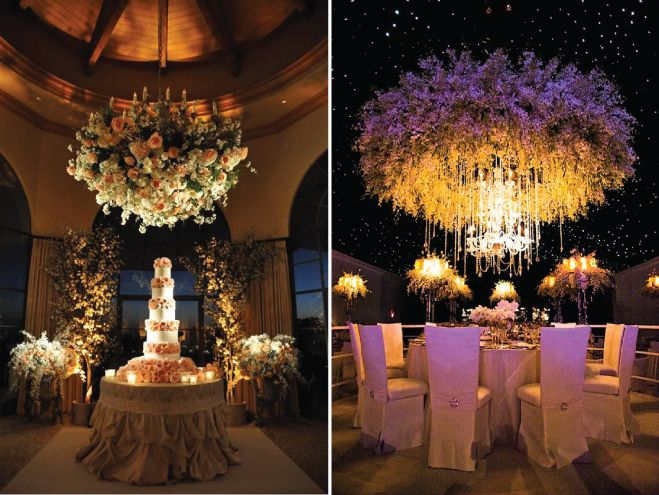 Suspended wedding centerpieces floral chandeliers hanging suspended wedding centerpieces floral chandeliers belle the magazine aloadofball Images