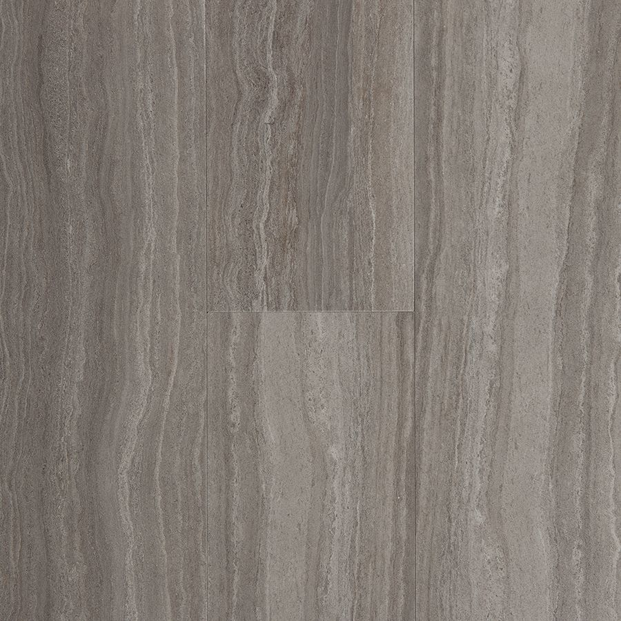 Bathroom floor vinyl tiles - Stainmaster 6 In X 24 In Groutable Chateau Light Gray Peel And Stick Travertine Luxury Vinyl Tile Lss3471eps