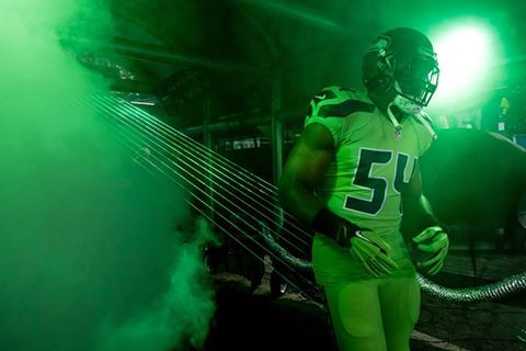 buy popular 271c2 d0cbf Seattle Seahawks - Bobby Wagner, color rush. Green with envy ...