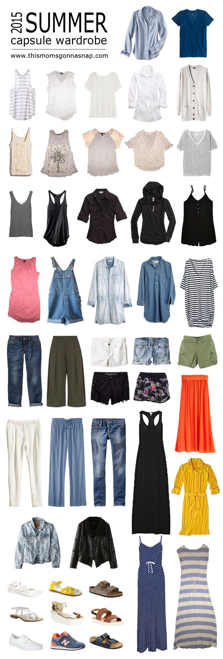 Mom Style {Summer Capsule Wardrobe} (This Mom's Gonna SNAP