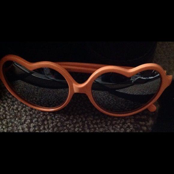 Orange Heart Shaped Sunglasses. Orange Heart shaped sunglasses. Never wore them. Accessories Sunglasses