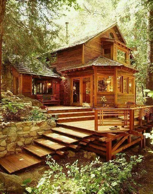 Wood House I Like The Giant Porch Deck Area