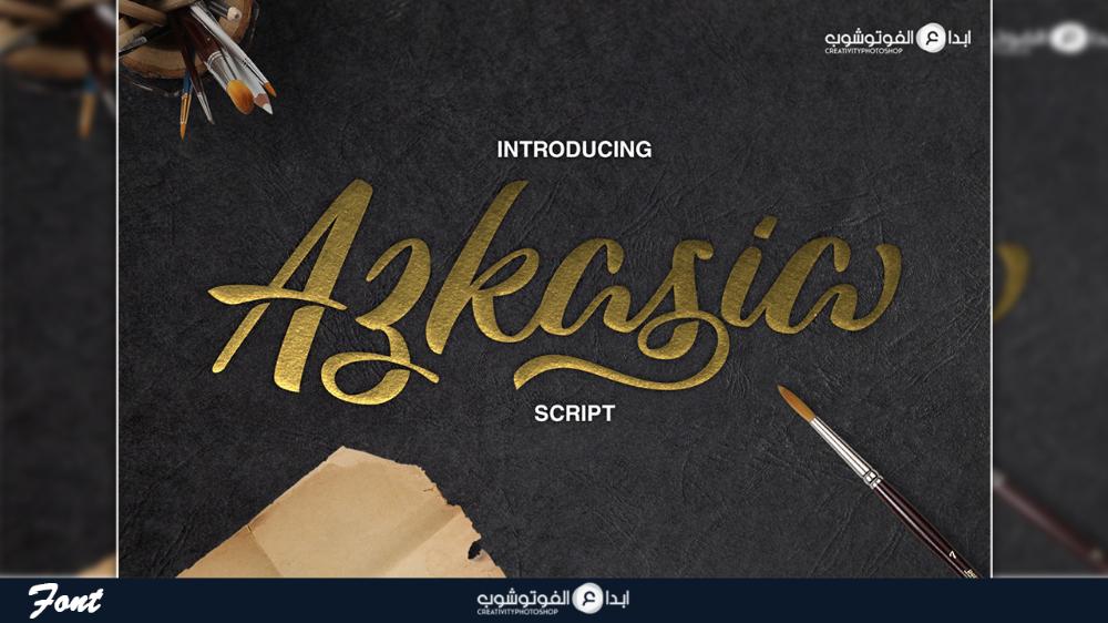 Azkasia Script Font Free Free Script Fonts Script Fonts Free Font