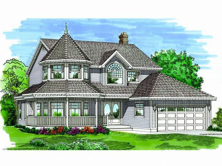 032h 0042 4 Bedroom Victorian House Plan Victorian House Plans Farmhouse Style House Plans Country Style House Plans