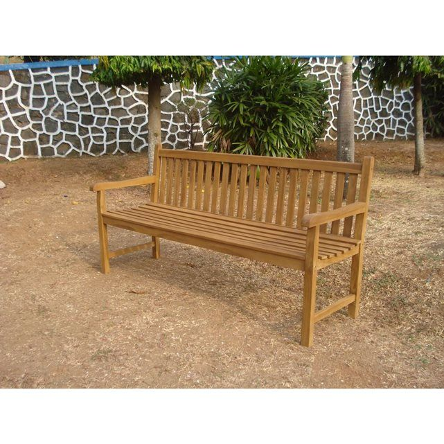 Banc de jardin en teck KALAWEA 180 cm | salon de jardin ...