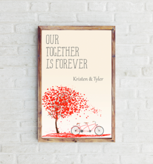 Our Together Is Forever Personalized Art Print Large 11 X 17 Personalize Art Personalized Art Print Personalized Artwork