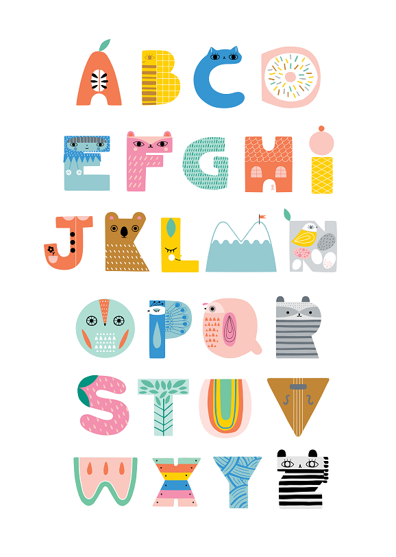 Wooden Abc Animal Letter In 2021 Abc Poster Animal Letters Kids Poster