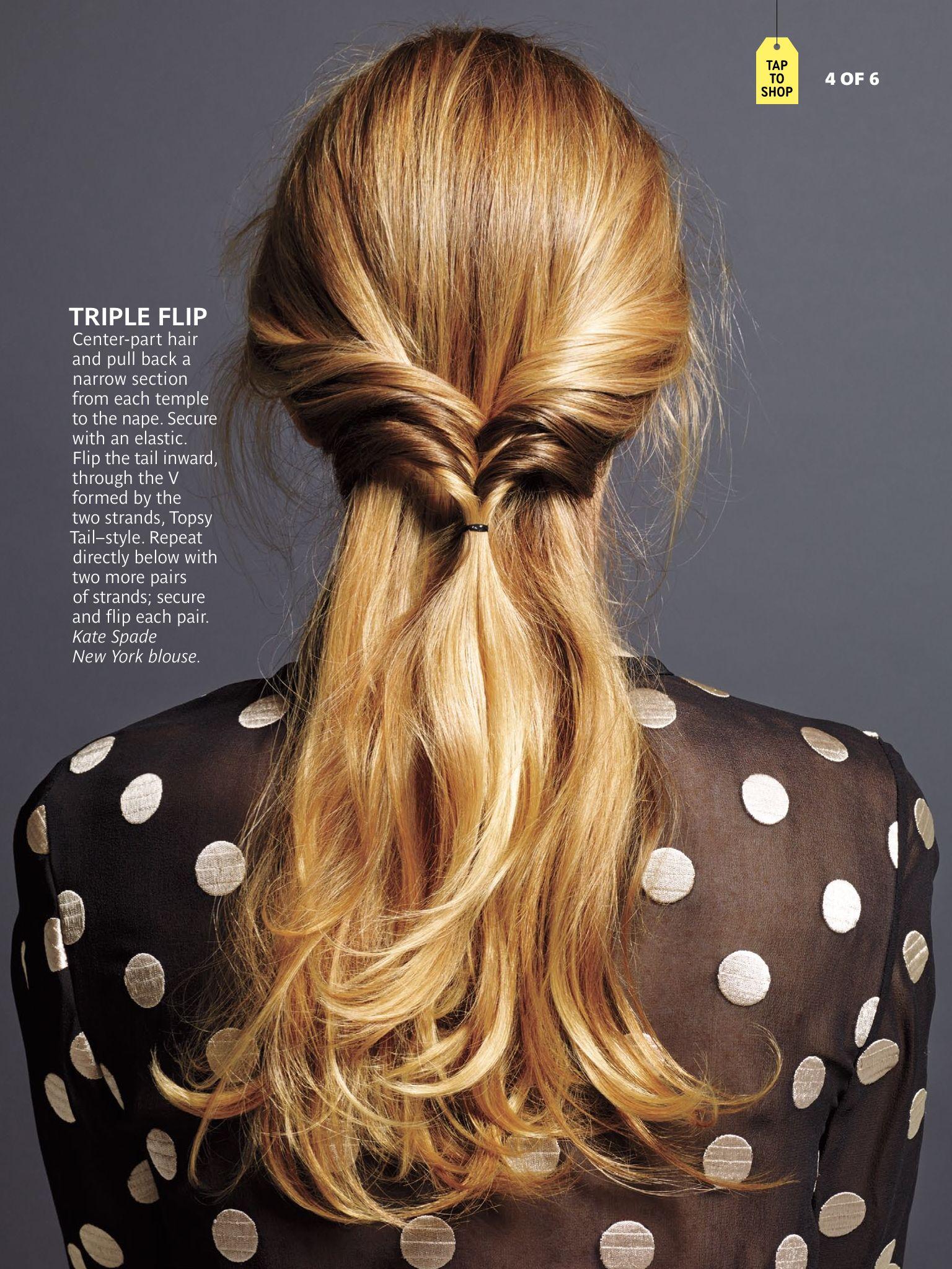 Triple flip hair do from November 2014 Real Simple magazine