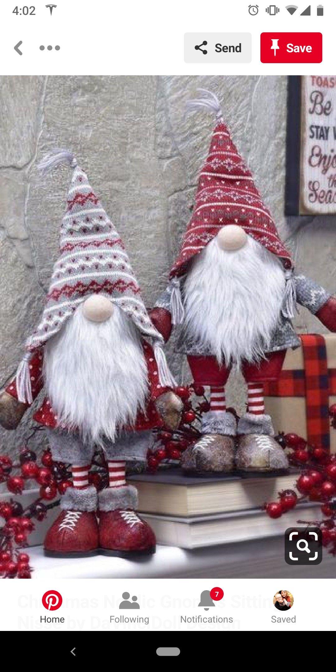 Christmas Gnomes Pinterest.Pin By Bonita On Crafts Pinterest Christmas Gnome