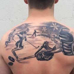 hockey scene Brandon Heffron @ Beloved Studios St.Paul MN | Tatts ...