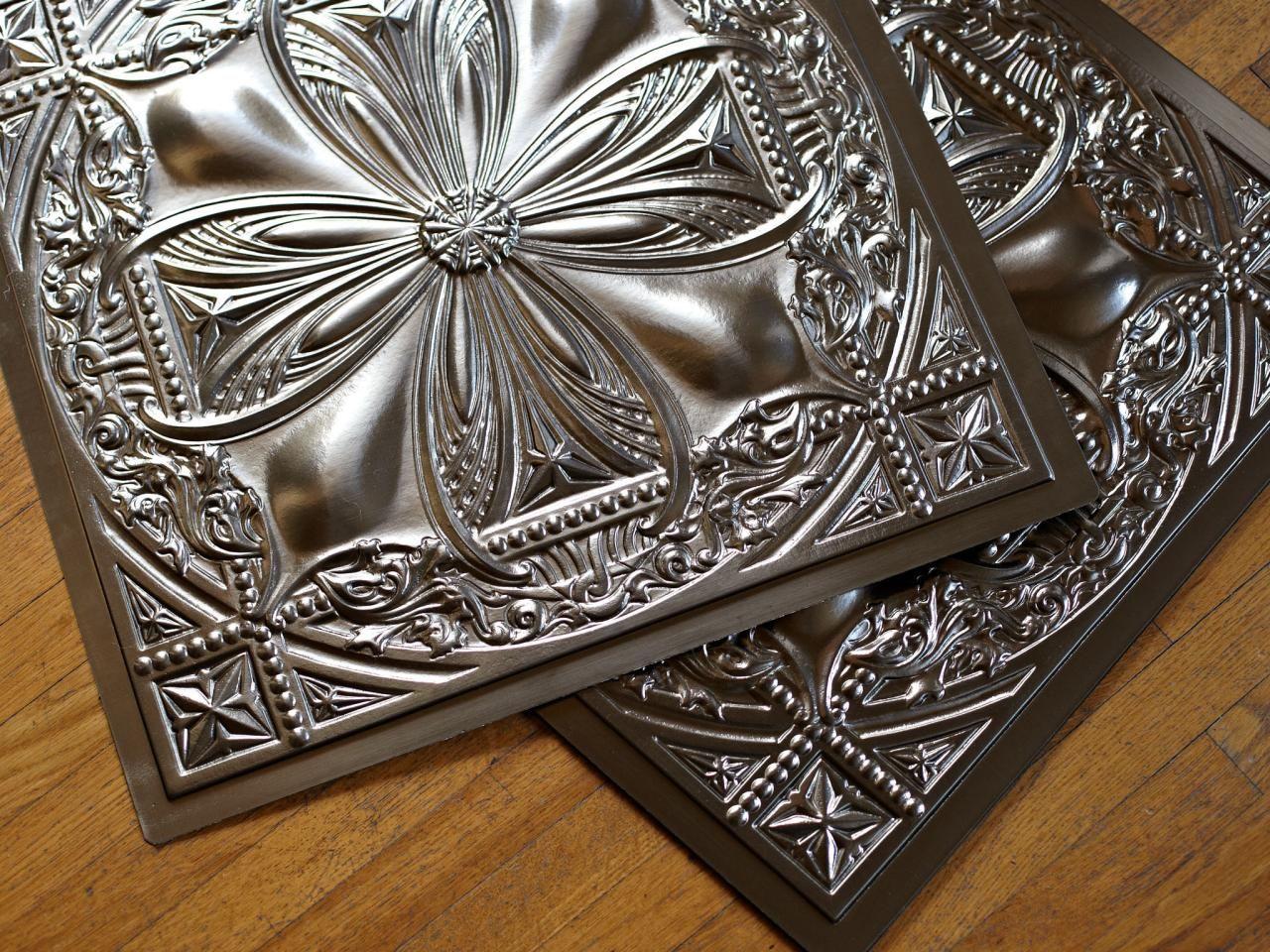 Decorative Tin Backsplash Tiles Amusing How To Install Tin Ceiling Tiles  Tin Ceilings Ceiling Tiles And Design Decoration