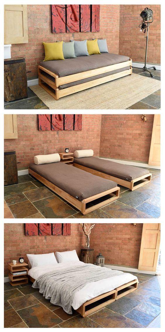 Kids Room. Stackable beds. I'm sure we could make a frame