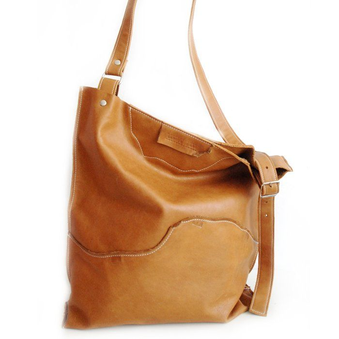 825b7447abdb Playful natural shapes make this bag unique... Leather Crossbody Bag made  from ecologically