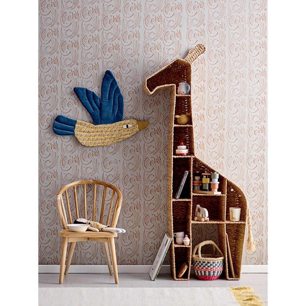 Photo of Hand-Woven Bankuan & Metal Giraffe Shelf