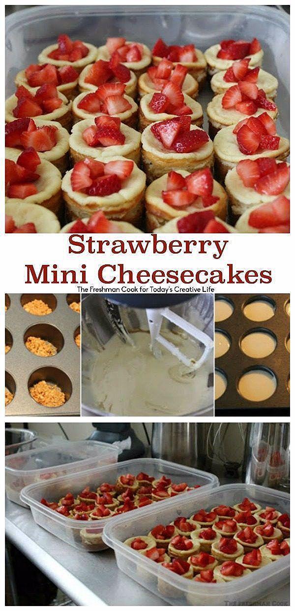 Photo of Strawberry Mini Cheesecakes