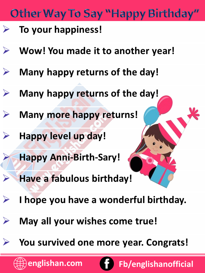 Other Way To Say Happy Birthday Synonyms And Related Words Englishan Other Ways To Say Birthday Wishes Quotes Happy Birthday Love Quotes