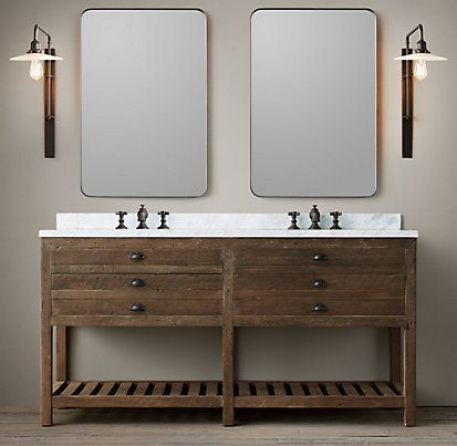 Printmaker\'s Bath Collection - Antiqued Pine | Restoration Hardware ...