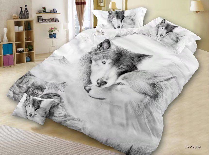 Günstige Ms O Custom Made 3d Tier Queen Size Bettbezug Gesetzt Hund