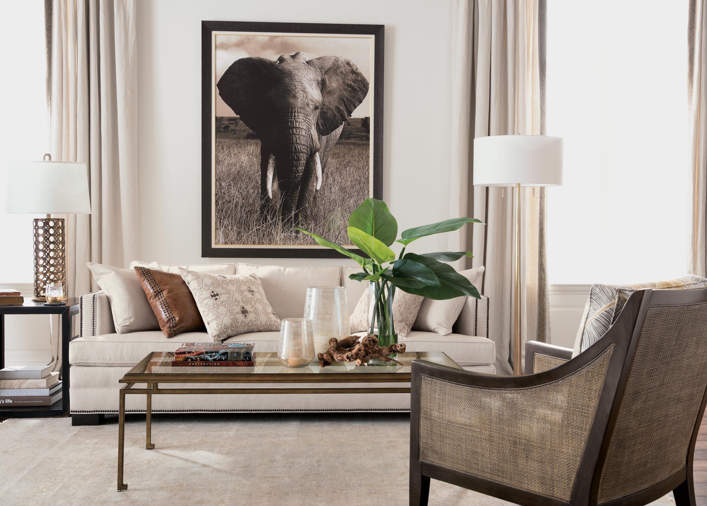 Elephant Woven Chair Home Decor Furniture
