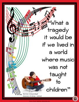 Music Posters Quotes For Bulletin Boards And Classrooms Music Classroom Teaching Music Quote Posters