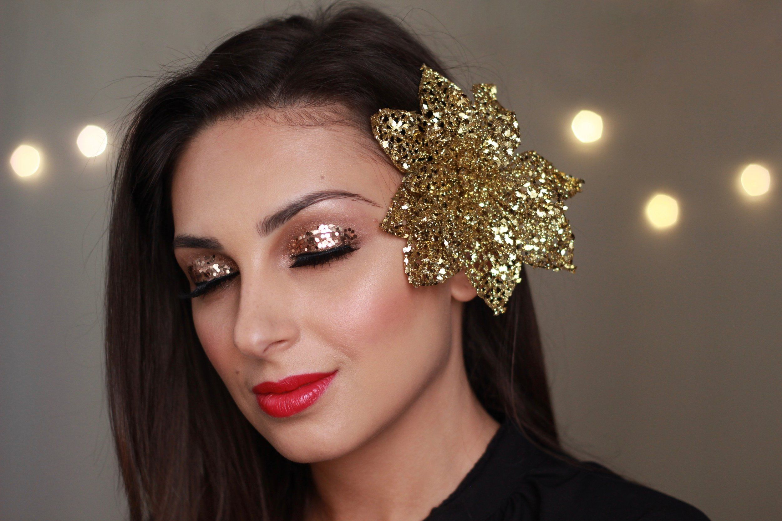 Post Nadia Zayat New years eve makeup, Beauty video