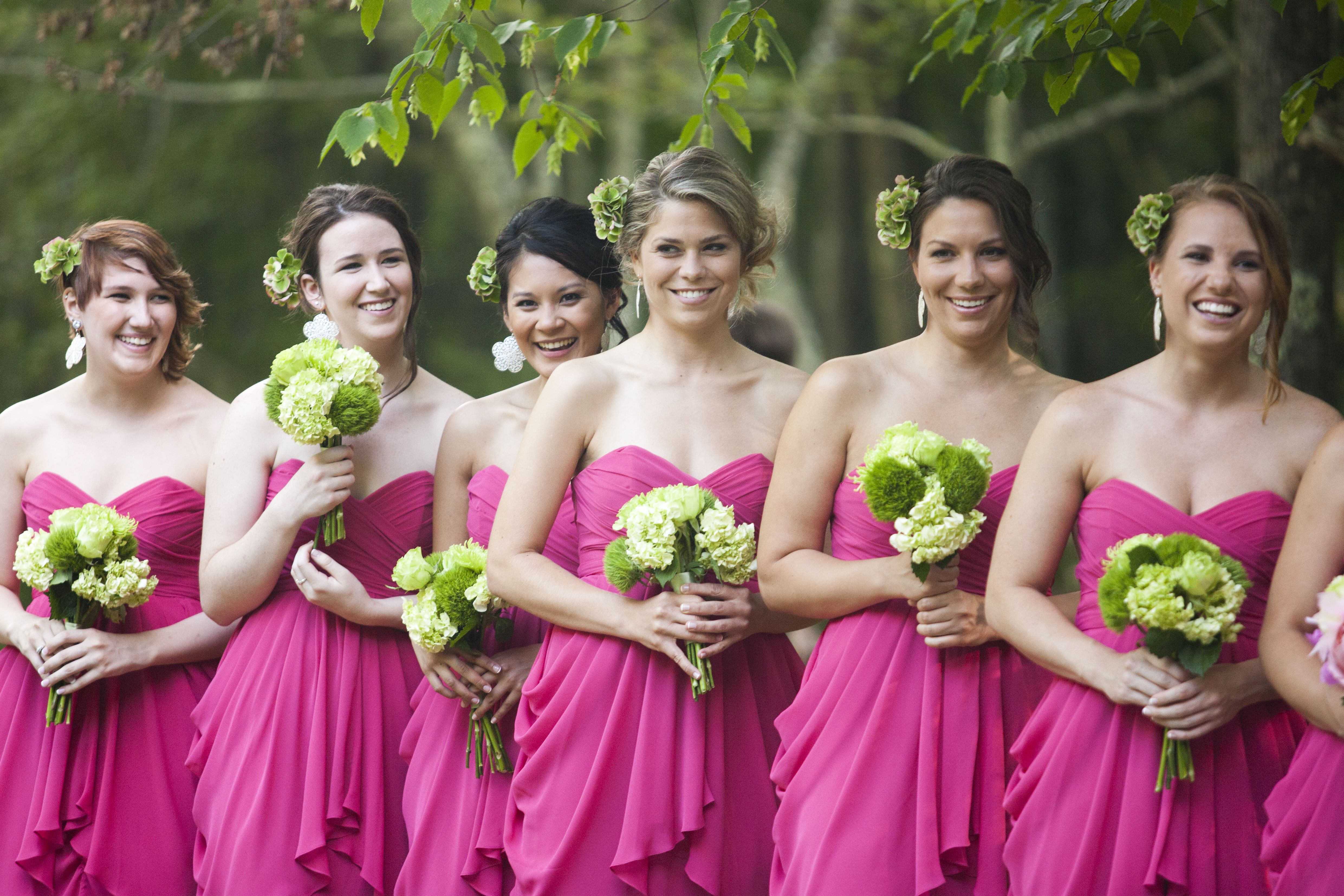 Hot pink bright mega wedding colors board pinterest pink and green wedding theme ombrellifo Choice Image