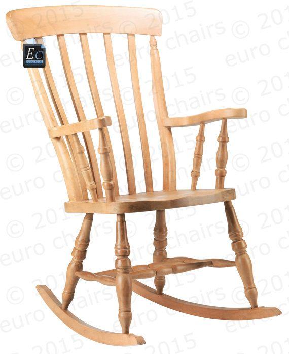 Fauteuils A Bascule De Lamelle Dos Traditionnels Chaise A Bascule Ferme Classique En Hetre Massif Ta Rocking Chair Wood Rocking Chair Wooden Rocking Chairs