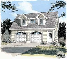 Plan 3792TM Simple Carriage House Plan