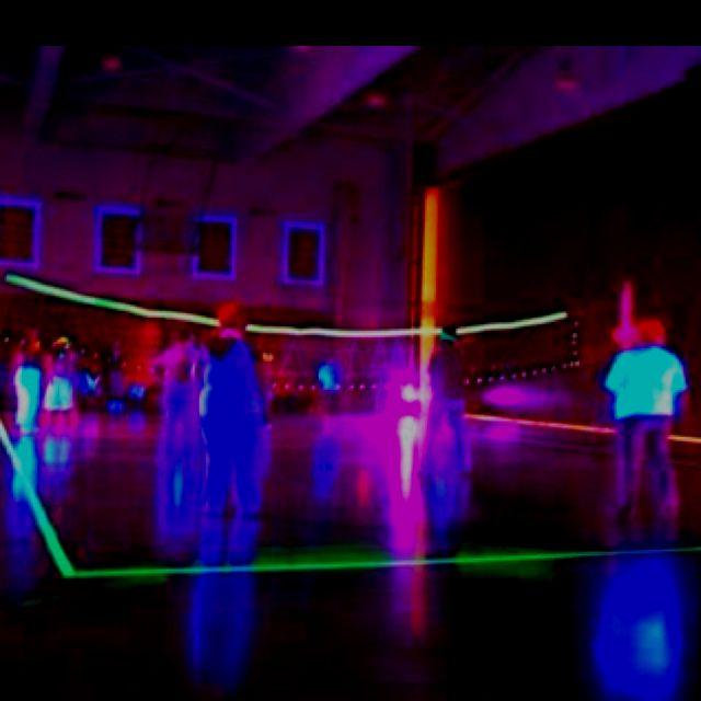 Neon Glow In The Dark Volleyball Court!!! @abbey Fellman