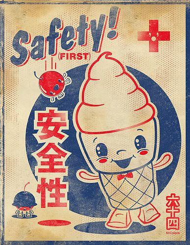 Safety Cone Japanese Pop Art Japanese Graphic Design Matchbox Art