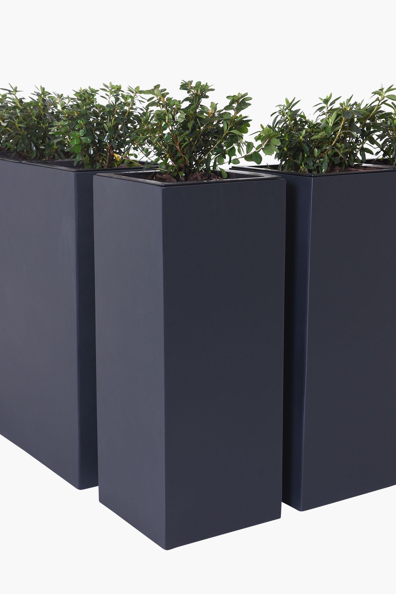 Pflanzkubel Raumteiler Eckkombination Fiberglas Corner 75