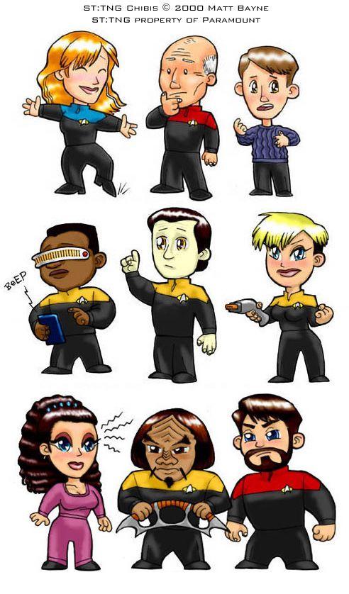 Star Trek: TNG Chibis by heymatt.deviantart.com | Star Trek ...