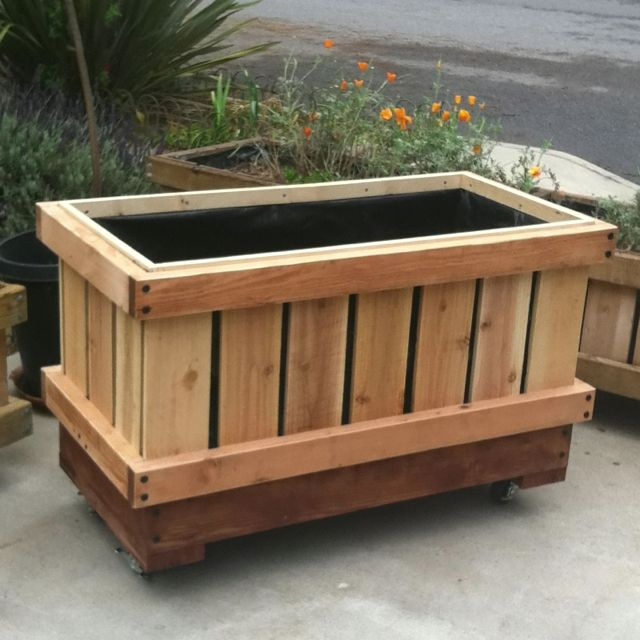 Pin By Jane Louise Waldron On Gardening On Casters Planter Boxes