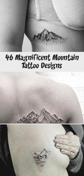 Photo of 46 magnifiques conceptions de tatouage de montagne – idées de tatouage – montagnes et croissant de Mo … …