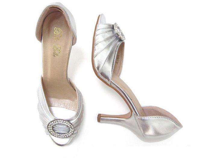 Flapper style medium heel shoes 99