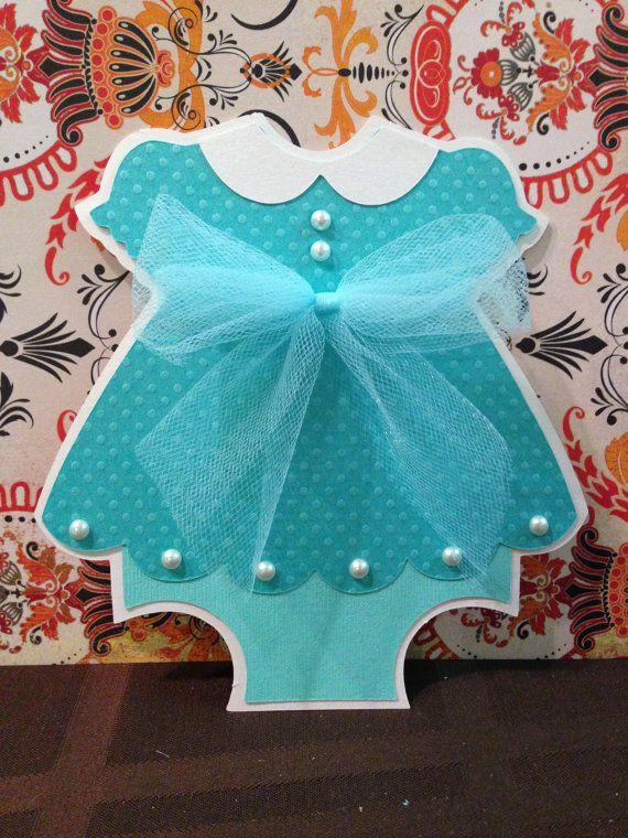 7aa9f3057 Invitaciones de la ducha Vestido de bebé por PaperDivaInvitations ...