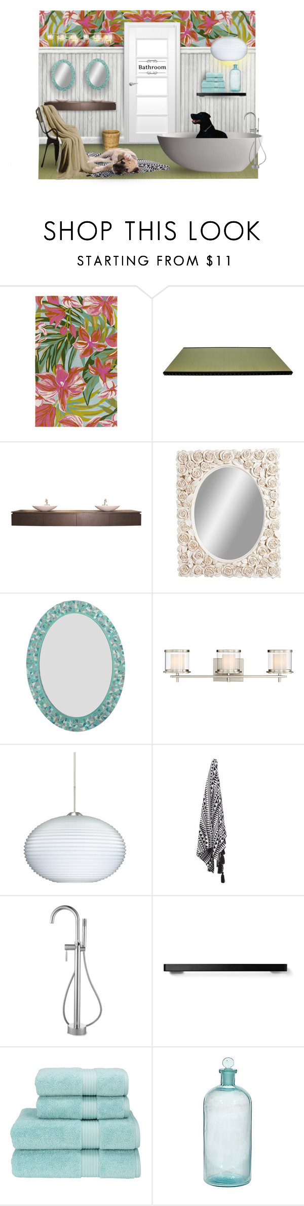 """:)Aww...do I have to take a bath?"" by maison-de-forgeron ❤ liked on Polyvore featuring interior, interiors, interior design, home, home decor, interior decorating, Surya, XVL, Laurence Llewelyn-Bowen and Possini Euro Design"