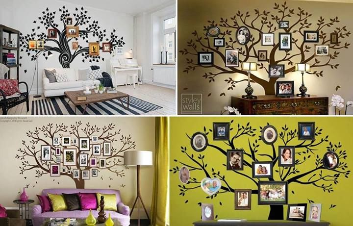 Wonderful Diy Amazing Family Tree Wall Art Manualidades