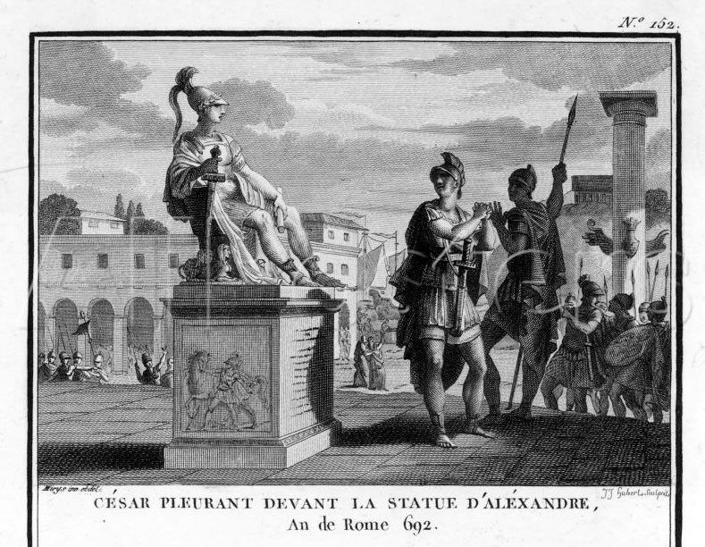 Caesar Crying Before Alexander Statue