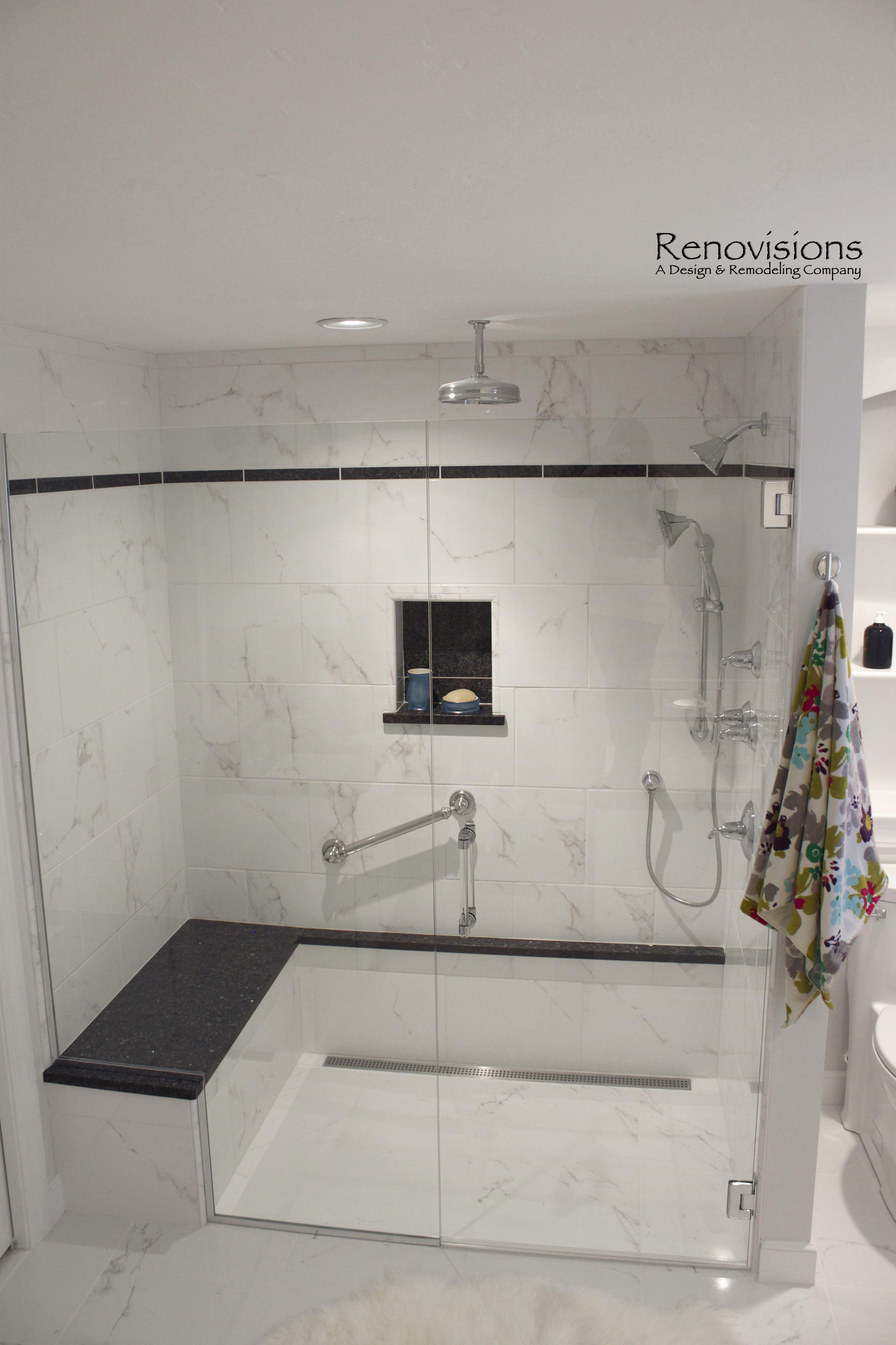 Master bath remodel by Renovisions. This spa-like environment ...
